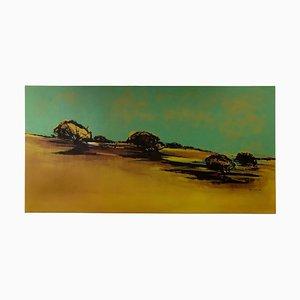 Landscape Reborn, Abstrakte Baum Landschaftsmalerei, Zeitgenössisches Öl auf Leinwand, 2016