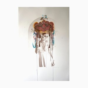 Rosie Emerson, Handbemalte Venus, Siebdruck, 2017