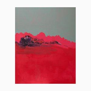 Contemplo II, Colorful Red & Large Abstraktes Gemälde, Öl auf Leinwand 2013-15