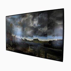 Lake St George Kensett, Landscape, Oil on Metal, 2015