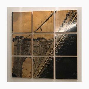Brooklyn Bridge I, Mixed Media Fotografie auf Holz, 2010