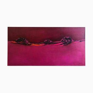 Rosa Blazing, Homage to Patagonia, Abstrakte Landschaft, Helle Ölfarbene Farben, 2016