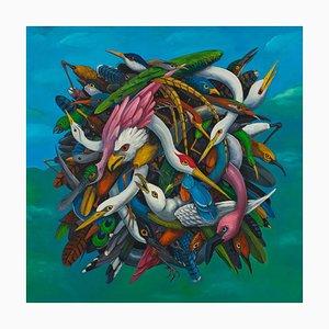 Chutes de Grace, Abstract Abstract, Peinture Animal, Huile sur Toile, 2015
