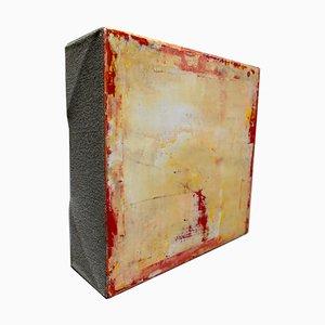 Michele Mikesells, Dogma, olio su tela, giallo, astratto, 2016