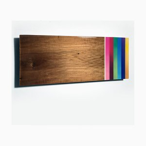 Mini Leaner # 7, Contemporary Painted Rainbow Wandskulptur, 2020