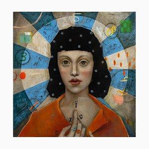 The Blessing, Huile sur Toile, Mysterious and Bimsier, Pop Art Portrait Master, 2020