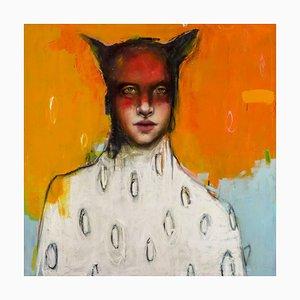 Mikesell, Marte, dio della guerra, olio su tela, contemporaneo, 2018