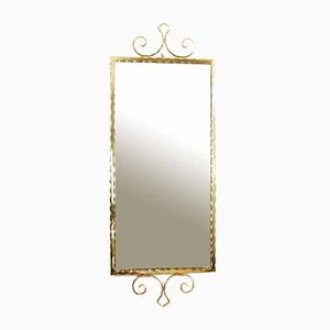 Mirror with Frame in Brass, 1950s
