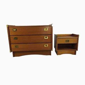 Vintage Kommode und Nachttisch von Gautier, 2er Set