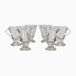 Murano Glass Cups, Italy, 1930s, Set of 6