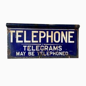 Doppelseitiges Emailliertes Telefonschild, Frühes 20. Jahrhundert