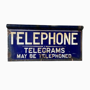 Double-Sided Enamel Telephone Sign, Early 20th Century