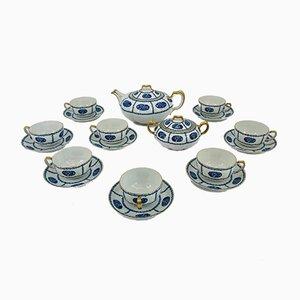 Art Deco Tea Set for 8 People from Franck Haviland Limoges, France, 1925, Set of 10