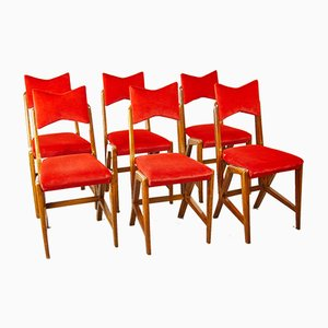 Chair in White by Louis Scremins, 1950s, Set of 6