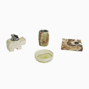 Raucherzubehör aus Marmor & Onyx, 1970er, 4er Set