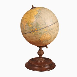 Englischer Globus mit Holzsockel, Frühes 20. Jahrhundert