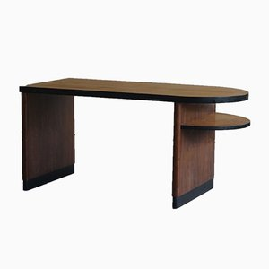 Schreibtisch aus Nussholz & Birkenholz von Axel Einar Hjorth für Nordiska Kompaniet, 1930er