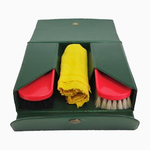 Shoe Cleaning Travel Kit, 1970s, Set of 4