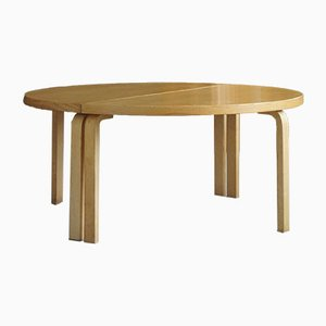 Large Round Dining Table in Birch by Alvar Aalto for Artek, 1980
