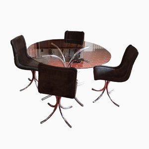 Dining Room Set, Italy, 1970s, Set of 5