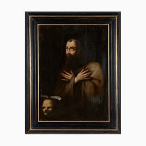 Saint Francis in Ecstasy, Probably Flemish School, Framed Oil on Oak Panel, 17th Century Baroque