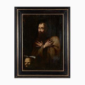 Saint Francis in Ecstasy, wohl flämische Schule, Gerahmt Öl auf Eichenholzplatte, Barock des 17. Jh