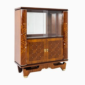 Art Deco Bar Cabinet in the Style of Jules Leleu, France, 1940s