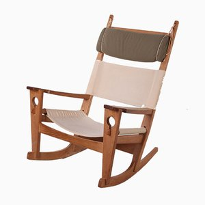 GE-673 Rocking Chair in Oak by H. Wegner for Getama