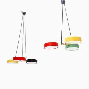 Lampade da soffitto di Stilnovo, Italia, metà XX secolo, set di 2