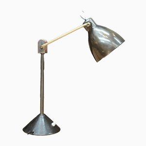 Lampe de Bureau en Métal et Laiton avec Bras Ajustable & Interrupteur à la Base, 1950s