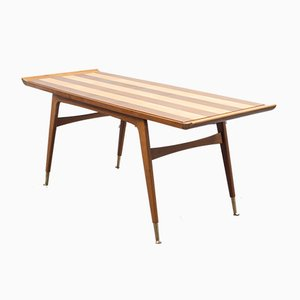 Tavolino da caffè bicolore restaurato, anni '50