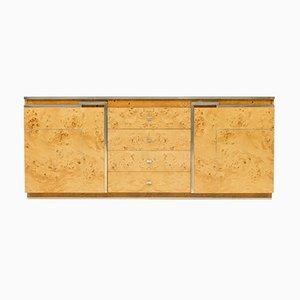 Burlwood Sideboard by Jean-Claude Mahey, 1970s