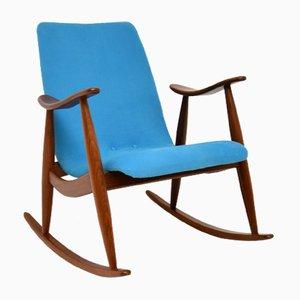 Vintage Dutch Rocking Chair by Louis Van Teeffelen