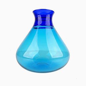 Murano Glass Vase in Turquoise by Ludovico Diaz De Santillana for Venini