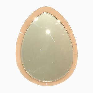 Mirror in Molded Pink Glass, 1970s