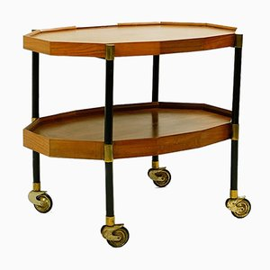 Italian Double-Shelved Serving Trolley from Bergonzi, 1950s
