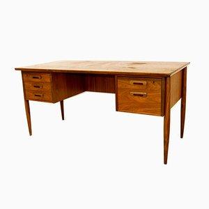 Scandinavian Desk in Walnut, Denmark, 1960s
