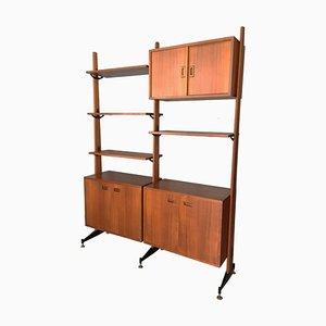 Mid-Century Mahogany & Laminate Shelf in the Style of Gio Ponti