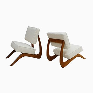 Mid-Century American Walnut Lounge Chairs by Adrian Pearsall, Set of 2