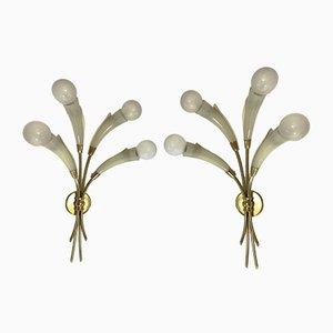 Applique in stile Max Ingrand per Lumen Milano, set di 2