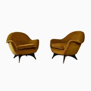 Armchairs by Guglielmo Veronesi for ISA Bergamo, Set of 2
