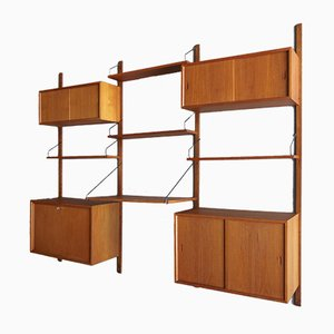 Vintage Danish Teak Royal Wall Unit by Poul Cadovius, 1960s.