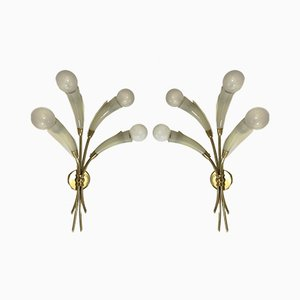 Sconces in the style of Max Ingrand for Lumen Milano, Set of 4