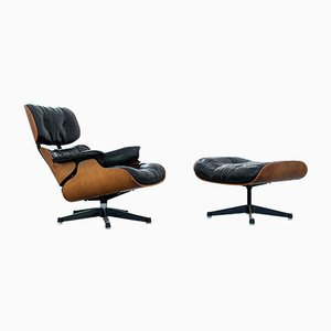 Early Edition Lounge Chair and Ottoman by Charles Eames for Herman Miller & Contura Fehlbaum, Set of 2