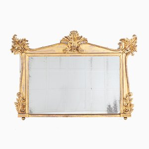 Miroir Overmantel Regency en Bois Doré