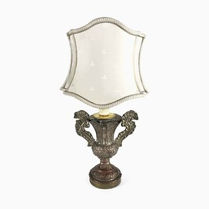 Antique Lamp with Fan Lampshade, 1700s