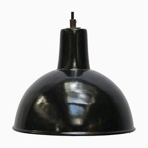 Vintage Industrial Black Enamel Factory Pendant Lamp