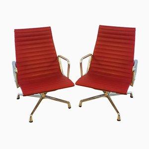 Aluminium EA116 Stühle von Charles & Ray Eames für Vitra, 2er Set
