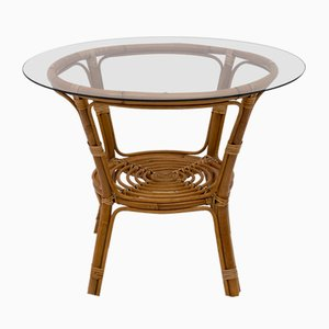 Mid-Century Modern Bamboo Coffee Table, Italy, 1950s