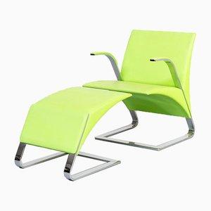 Ravello Leder Stühle von Riccardo Antonio für Poltrona Frau, 2er Set